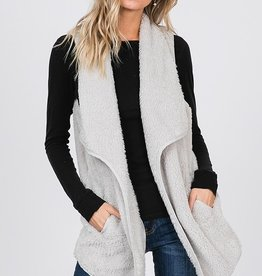 Icy White Fur Vest