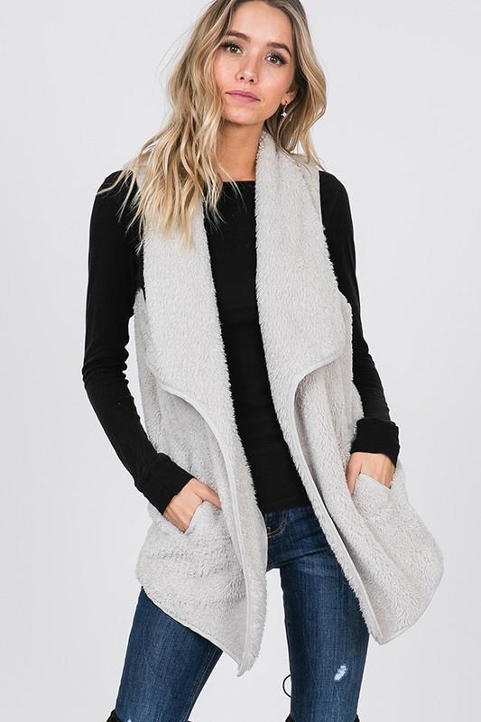 Icy White Fur Vest
