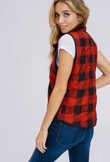 Red/Black Buffalo Plaid Vest