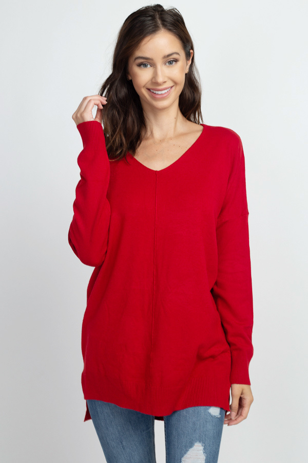 Red Soft Knit Sweater