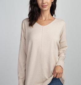 Oatmeal Soft Knit Sweater