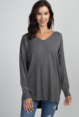 Charcoal Soft Knit Sweater