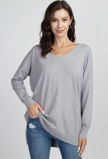 Silver Soft Knit Sweater