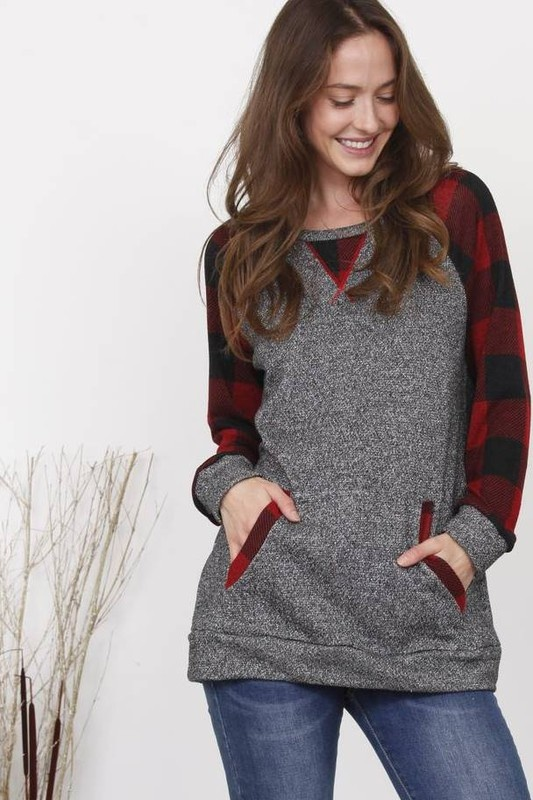 Buffalo Check/Charcoal Tunic