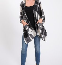Ivory/Black Buffalo Check Cardigan