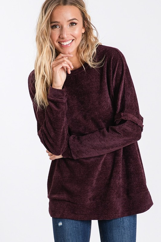 Burgundy Relaxed Pullover