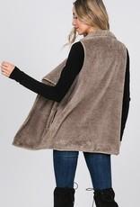 Mocha Faux Fur Vest