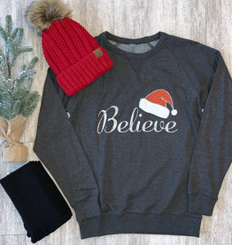 Charcoal Believe Pullover