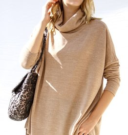 Taupe Turtleneck Tunic