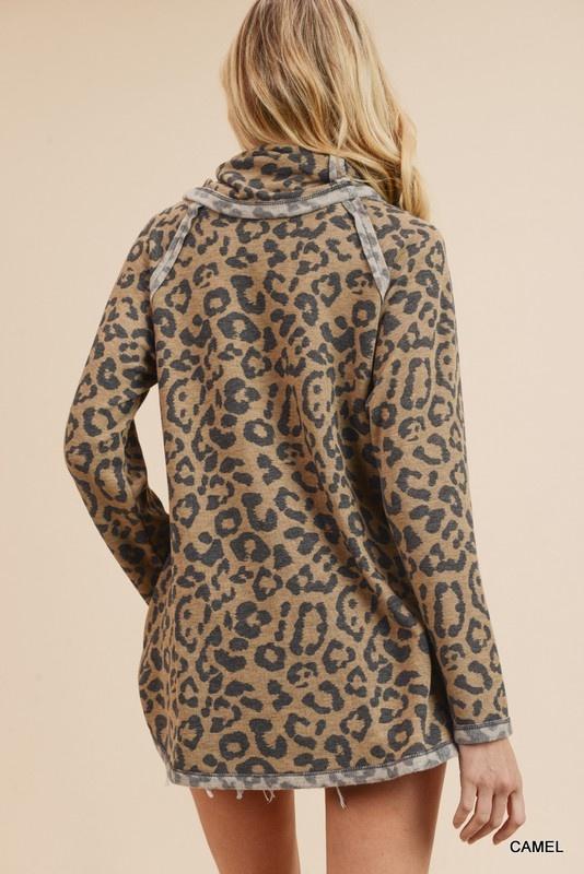 Camel Leopard Tunic