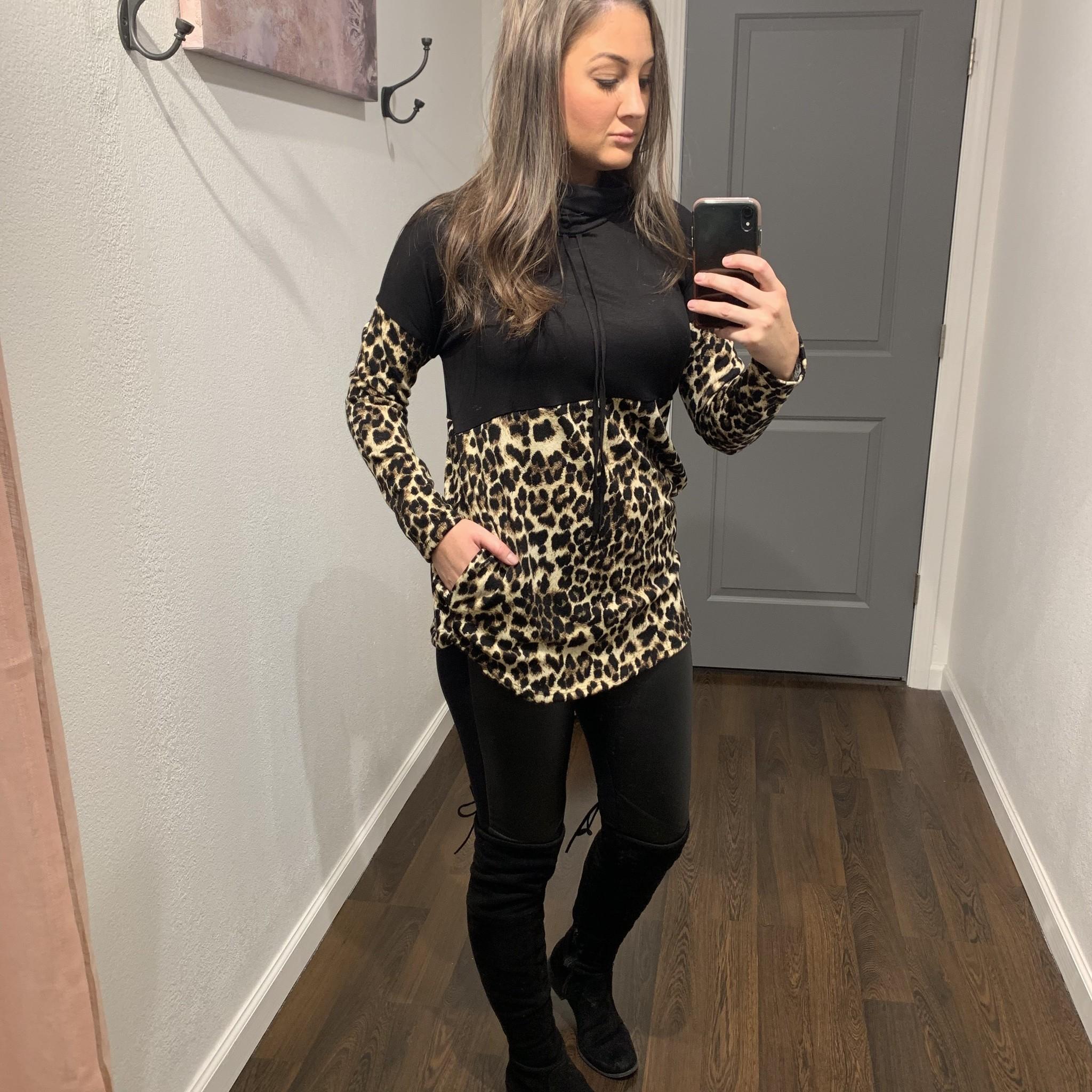 Black/Leopard Tunic