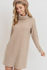 Taupe Brushed Knit Dress