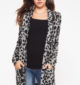 Grey/Leopard Cardigan
