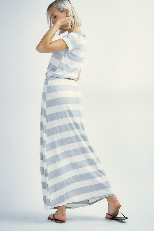 Grey/Ivory Maxi Dress