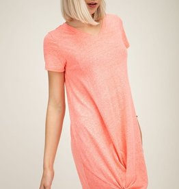 Heather Coral Knot T-Shirt Dress