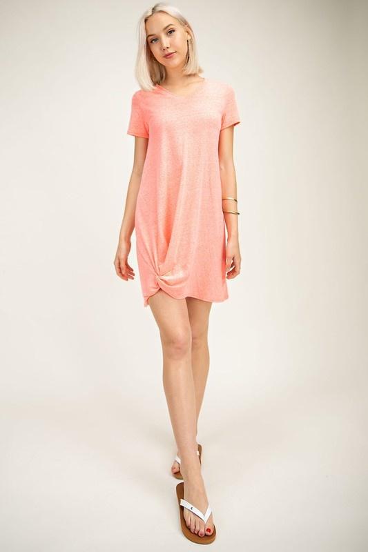 Heather Coral Knot T-Shirt Dress