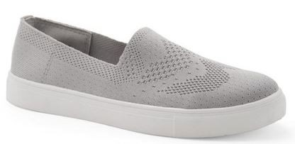 Grey Knit Sneakers