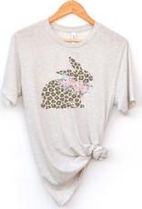 Oatmeal Cheetah Bunny Tee