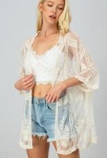 Cream Scalloped Kimono