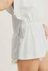Off-White Stripe Back Top