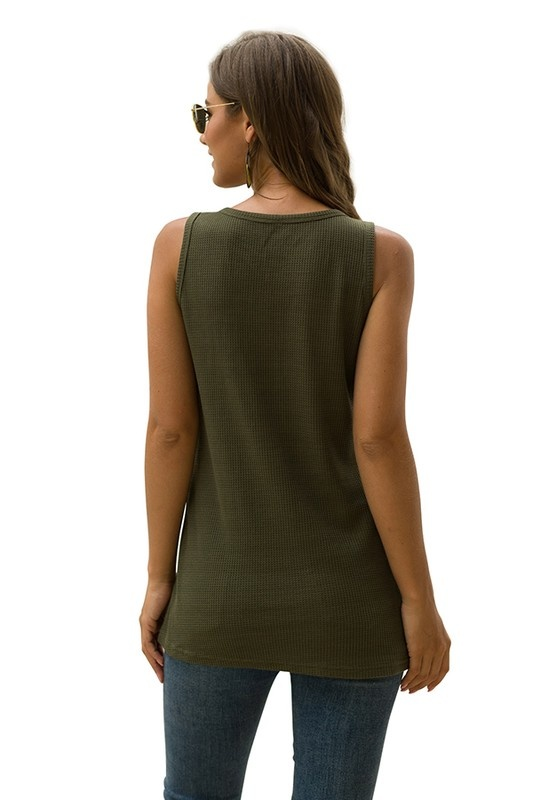 Olive Henley Tank