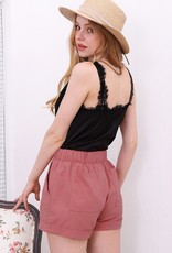 Blush Casual Shorts