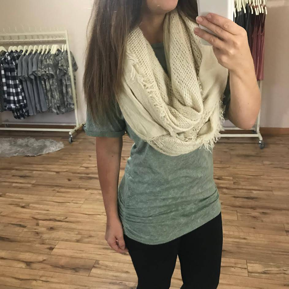 Sage Ruched Side Tee
