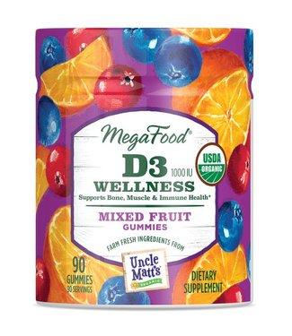Mega Food D3 WELLNESS GUMMIES (90)