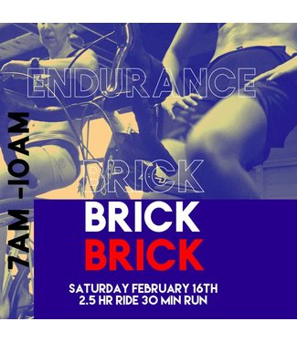 Endurance Brick - Saturday, Feb 16