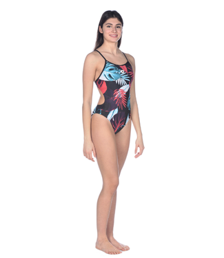 Arena WOMEN'S TROPICAL LEAVES TIE BACK ONE PIECE