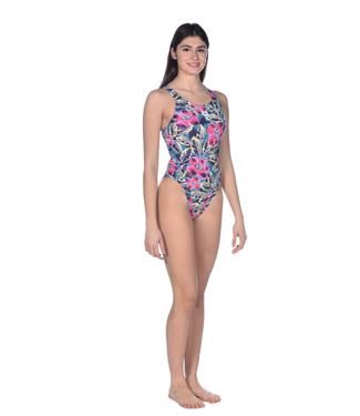 Arena Women's Tropical Sketch Swim Tech One Piece