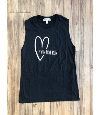Heart Swim Bike Run Women's Tank