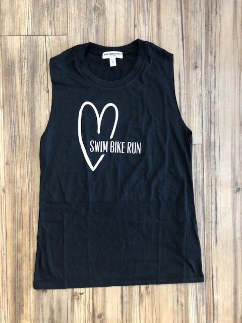 Heart Swim Bike Run Women's Tank