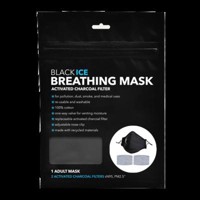 Black Ice Breathing Mask - Adult