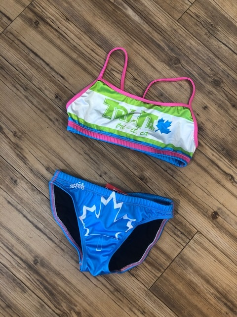 TRI IT Two-piece bathing suit green/blue