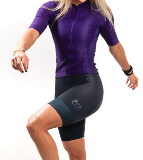 Tres Pinas Tres Pinas Womens Passionate Purple Pro Bike Jersey