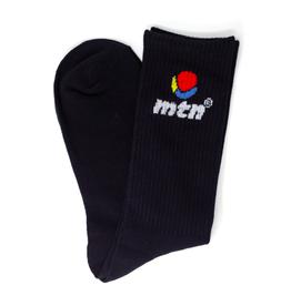 MTN Socks - mtn Logo - Black (Large)