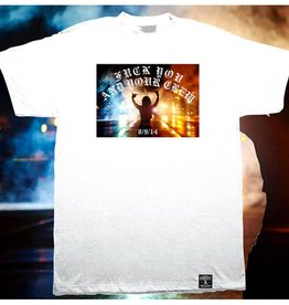 Dissizit Tee - FTP Hands Up - White