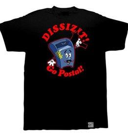 Dissizit Tee - Go Postal - Black