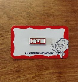 """Love Crew Pin - Red (Size 1"""")"""