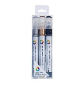 MTN Water Color 3m Marker 3pk - Metallic