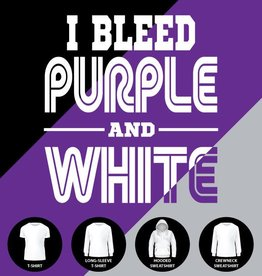 I Bleed Purple and White Shirt