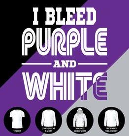 I Bleed Purple and White Shirt