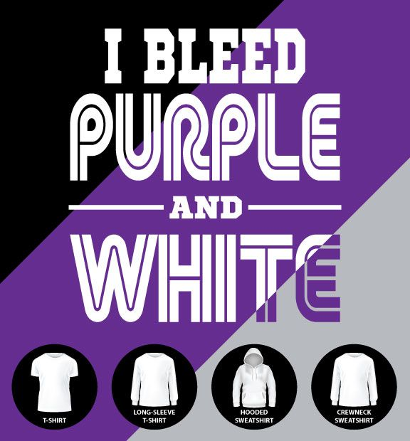 I Bleed Purple and White Shirt (Item #G1)
