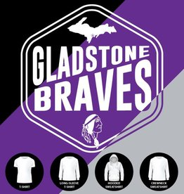 Gladstone Braves Badge Shirt