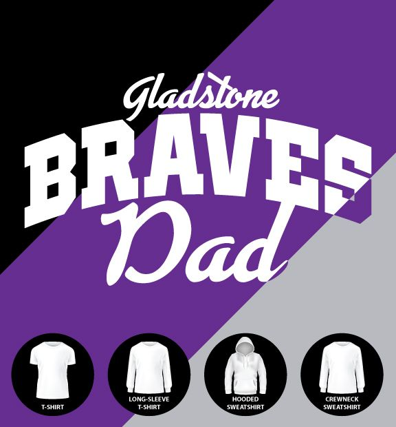 Gladstone Braves Dad Shirt (Item #G11)