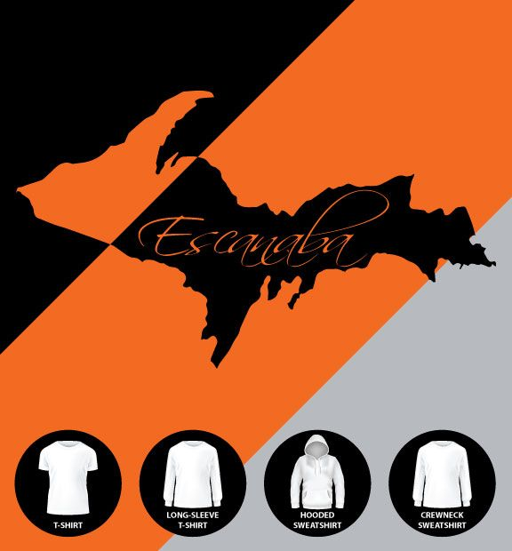 Escanaba UP Script Shirt (Item #E26)