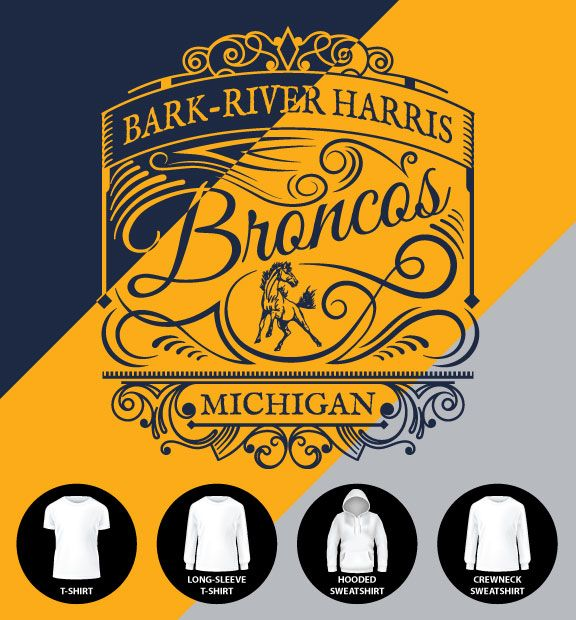 Broncos Label (Item #BRH4)