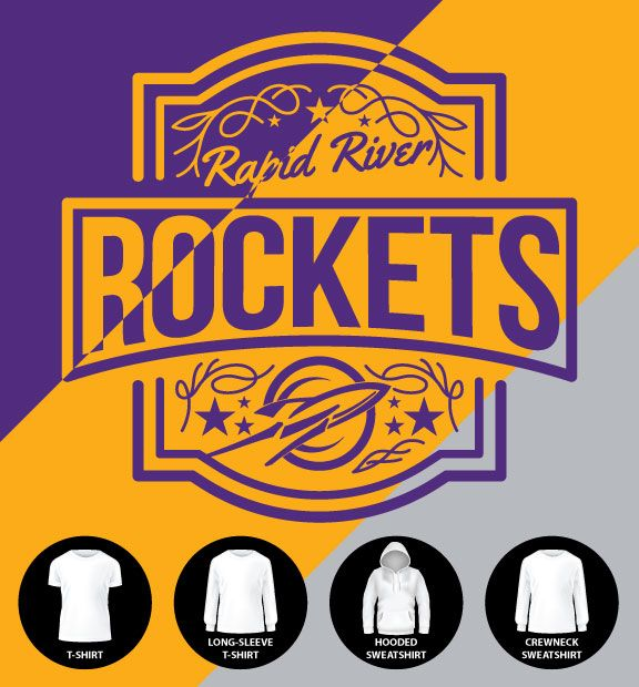 Rapid River Rockets Label Shirt (Item #RR6)