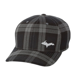 Plaid Flex Fit Hat with UP Symbol (Embroidery)